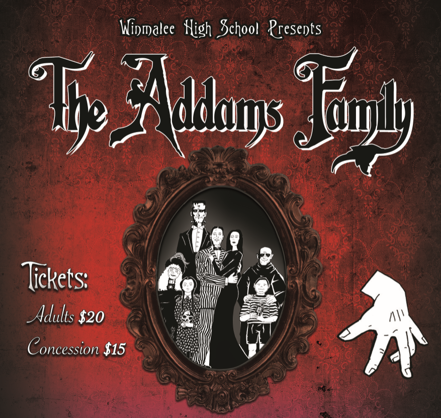 Poster from The Addams Family musical
